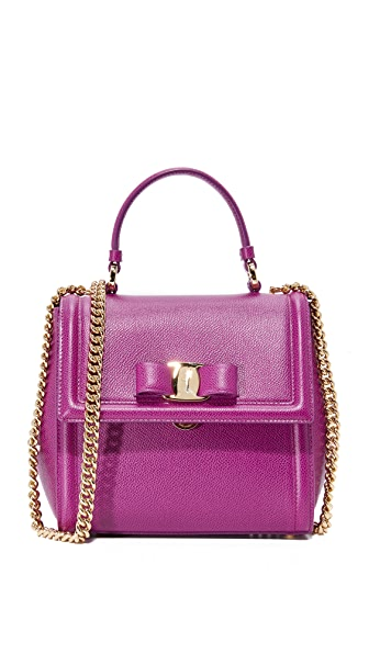 Salvatore Ferragamo Carrie Top Handle Satchel - Astro