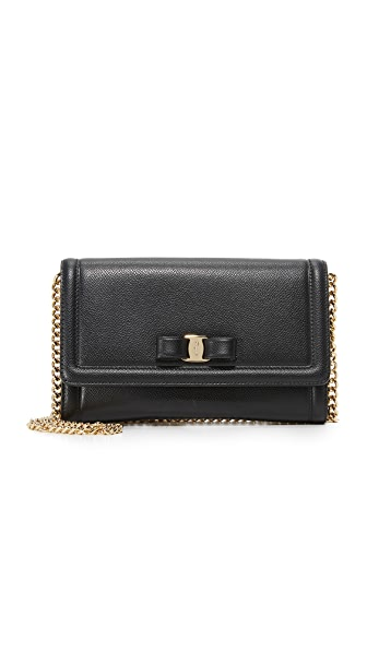 Salvatore Ferragamo Miss Vara Cross Body Bag - Black