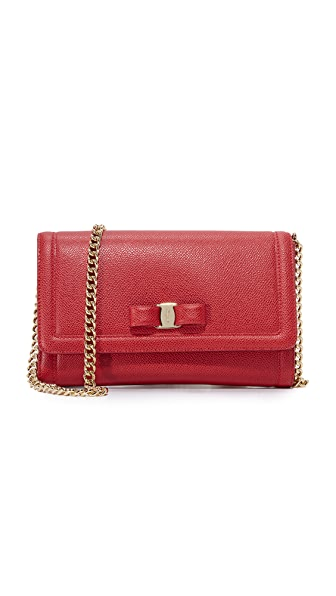 Salvatore Ferragamo Miss Vara Cross Body Bag - Lipstick
