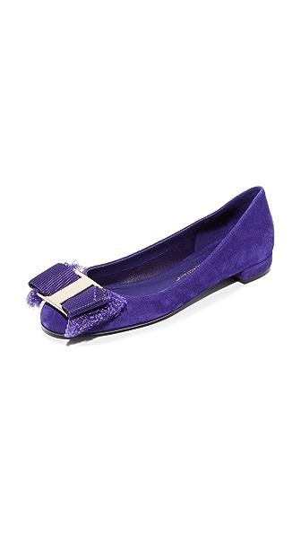Salvatore Ferragamo Marlia Flats - Iris Blue