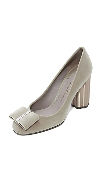Salvatore Ferragamo Capua 85mm Pumps - Urban Grey