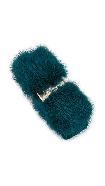 Salvatore Ferragamo Fur Visone Bow Clip