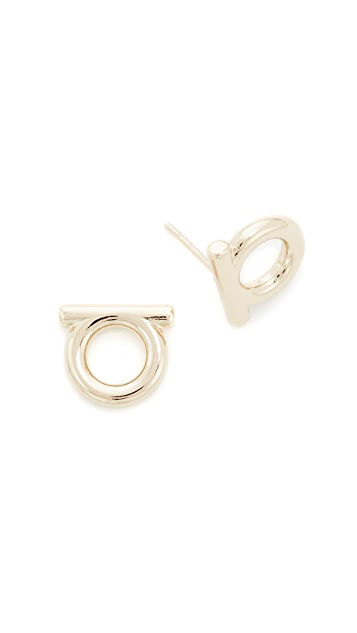 Salvatore Ferragamo Gancio Stud Earrings