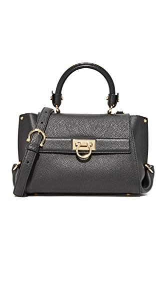 Salvatore Ferragamo Sofia Small Satchel - Nero