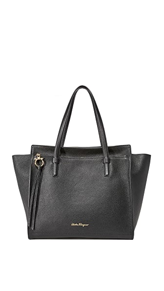 Salvatore Ferragamo Amy Large Tote - Nero