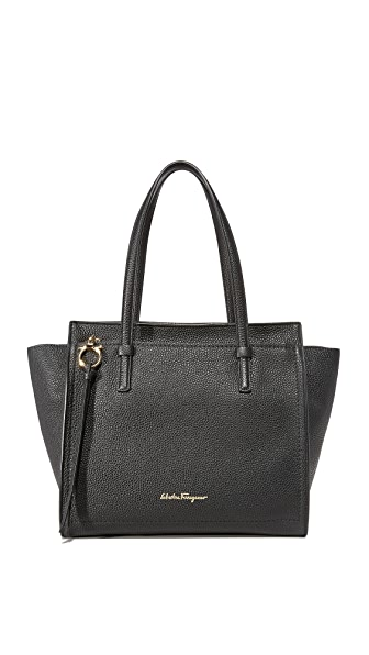 Salvatore Ferragamo Amy Medium Tote - Nero