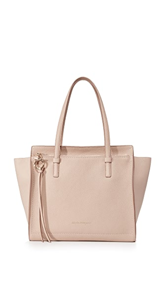 Salvatore Ferragamo Amy Medium Tote - New Bisque