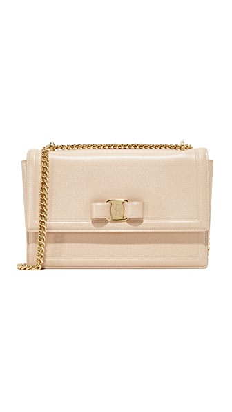 Salvatore Ferragamo Ginny Shoulder bag - Macadamia