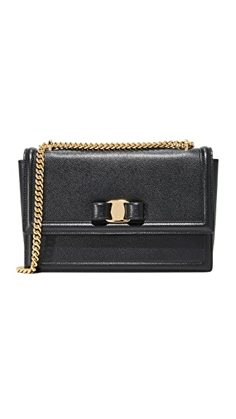 Salvatore Ferragamo Ginny Shoulder Bag - Nero