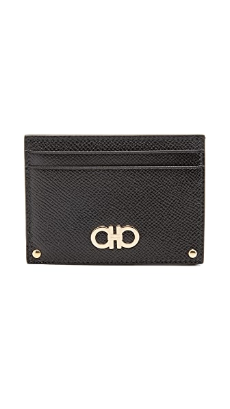 Salvatore Ferragamo Gancini Card Case - Nero