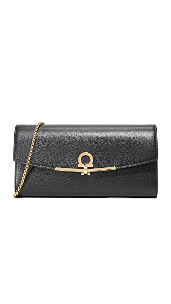 Salvatore Ferragamo Gancino Clip Mini Shoulder Bag - Nero
