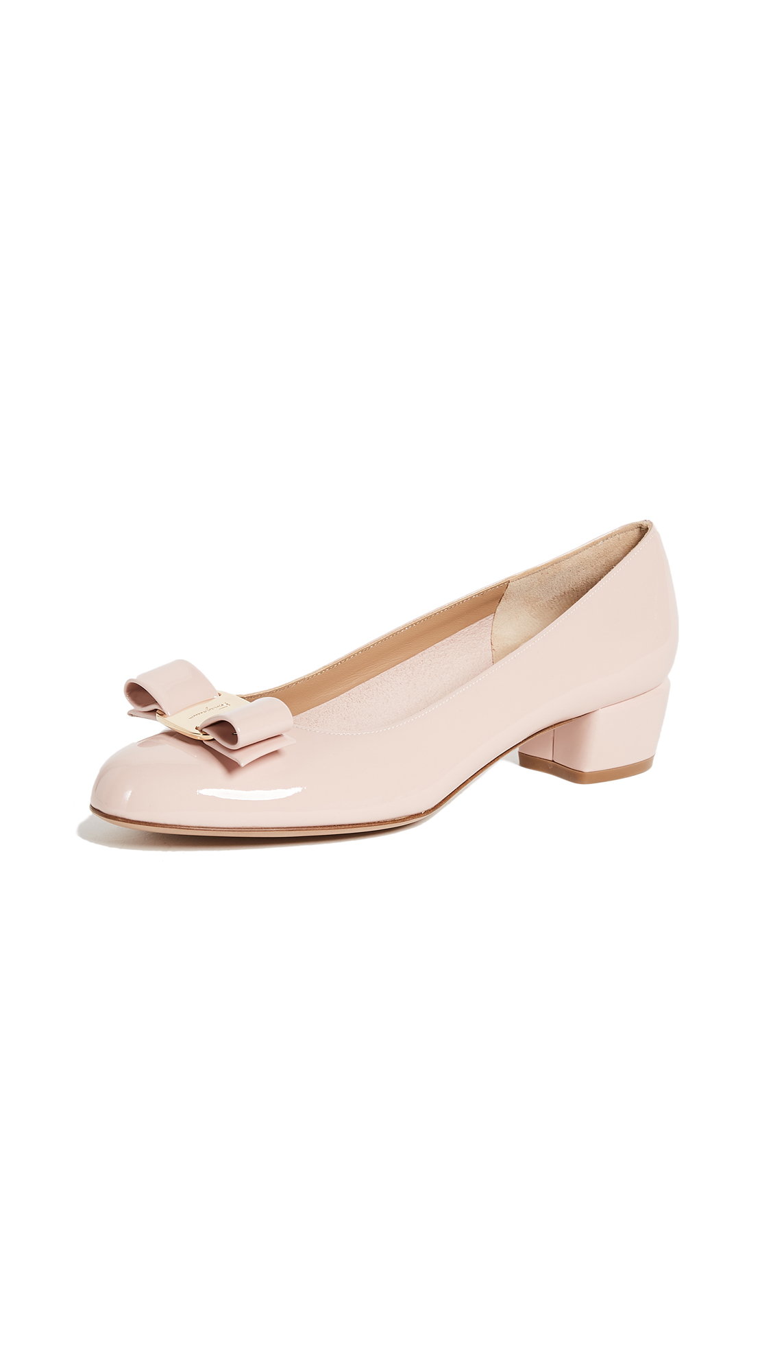 Salvatore Ferragamo Vara Low Heel Pumps - Bon Bon