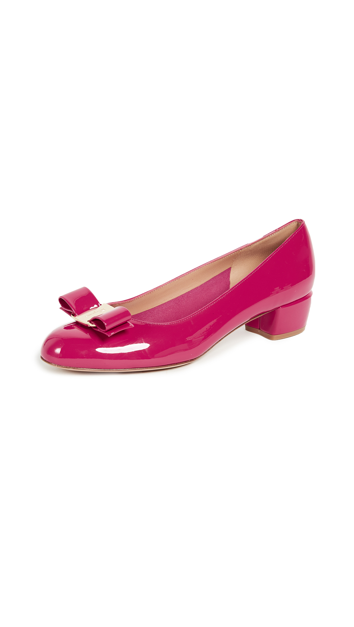 Salvatore Ferragamo Vara Low Heel Pumps - Begonia