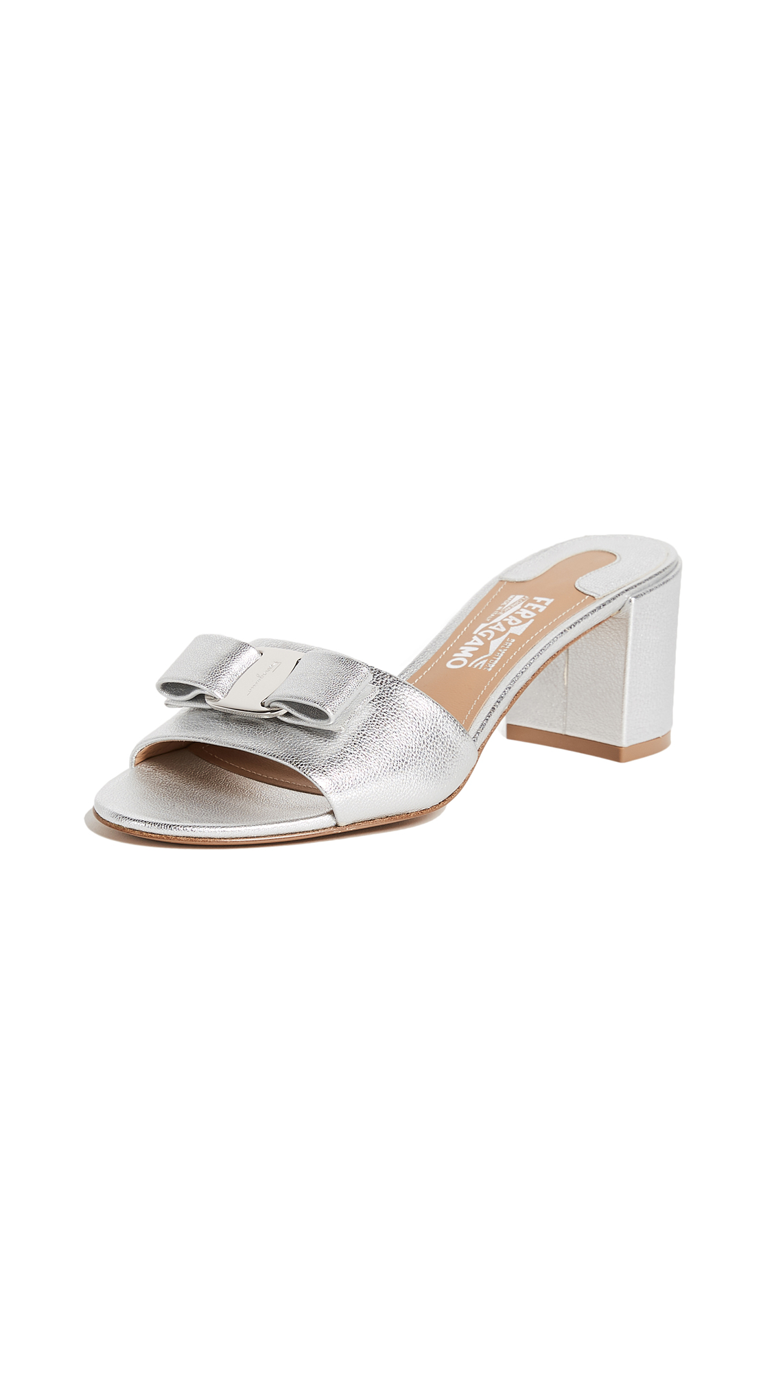 Salvatore Ferragamo Eolie City Slides - Argento