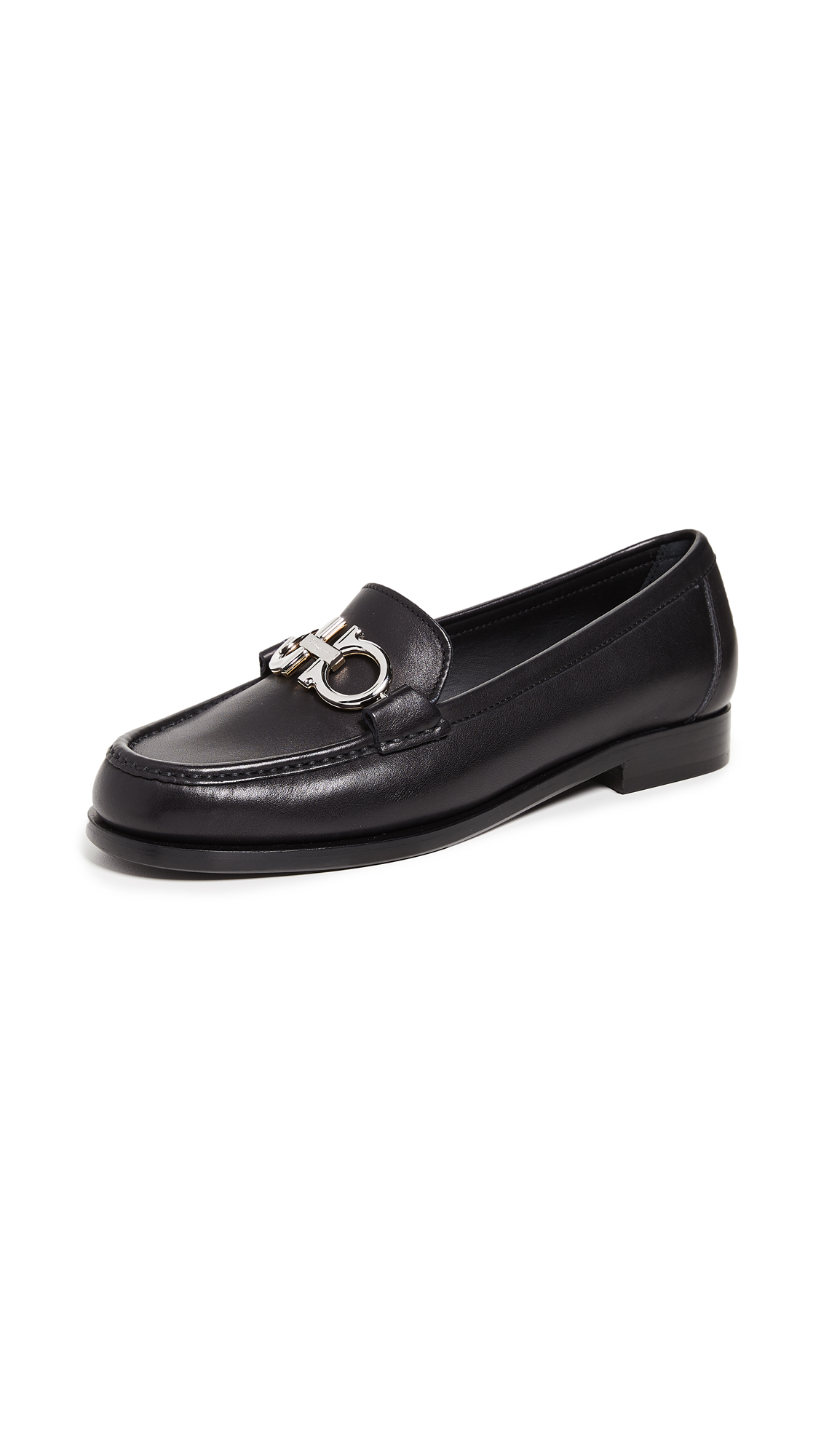 Salvatore Ferragamo Rolo Loafers - Nero