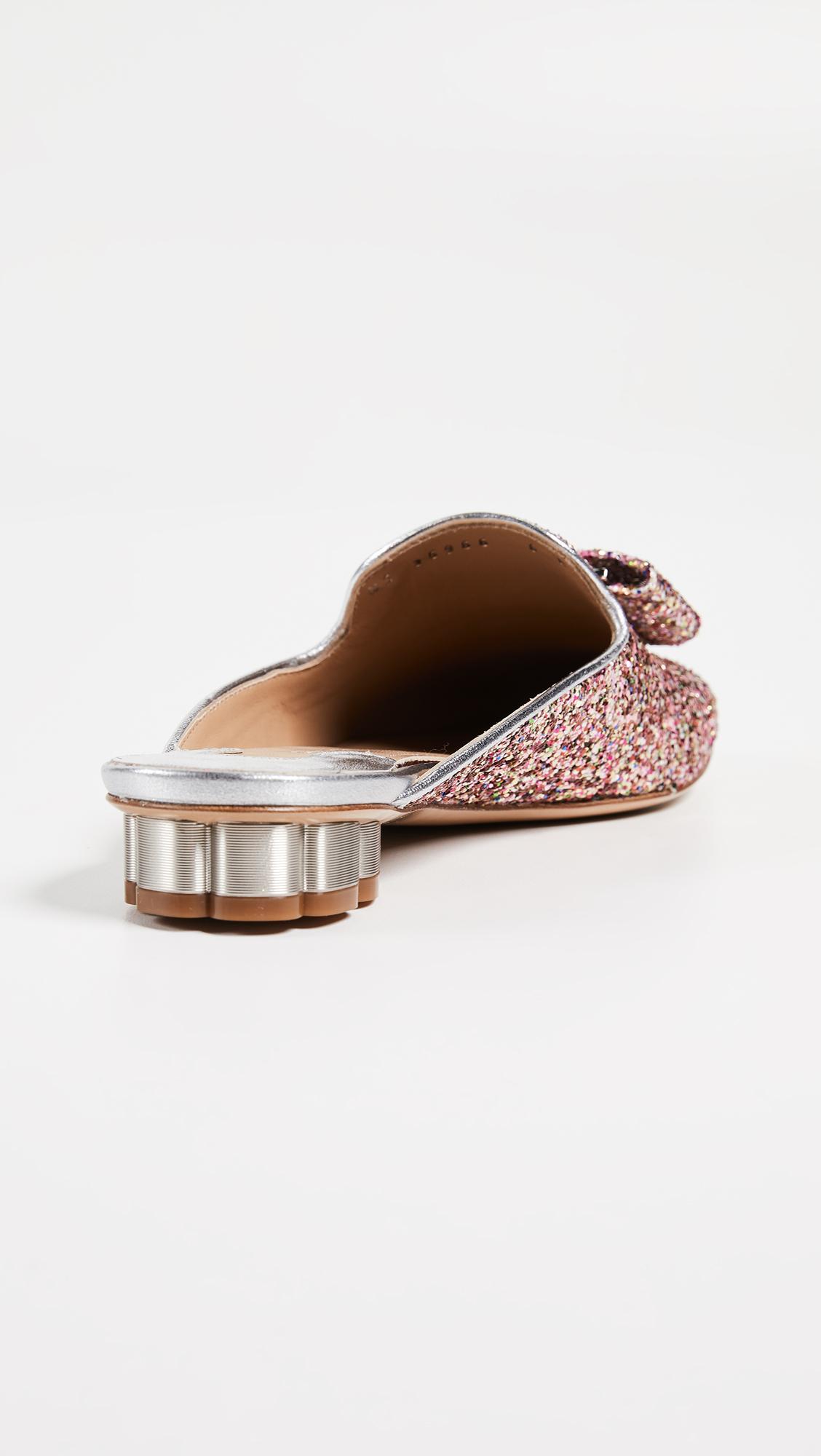 3d27b1b98 Salvatore Ferragamo Sciacca Glitter Mules | SHOPBOP