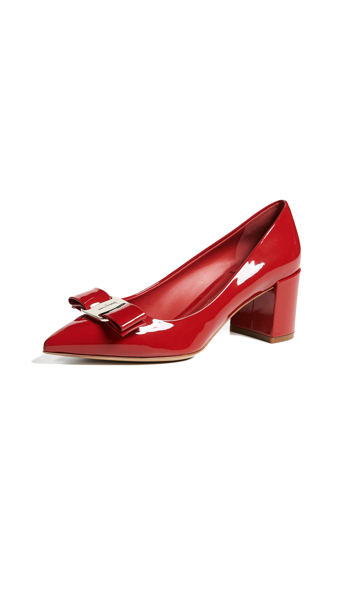 Salvatore Ferragamo Alice 55mm Pumps - Lipstick