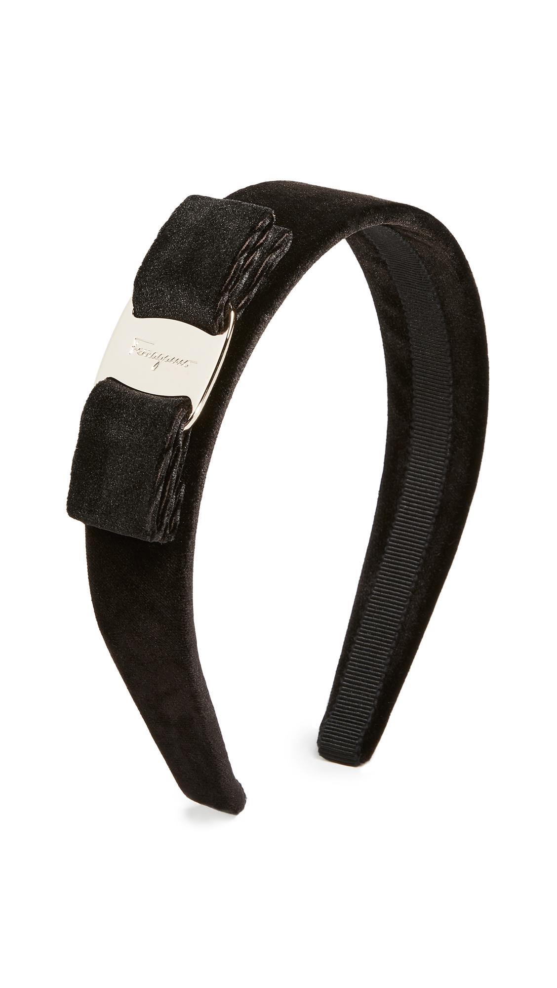 Salvatore Ferragamo Velvet Headband - Black