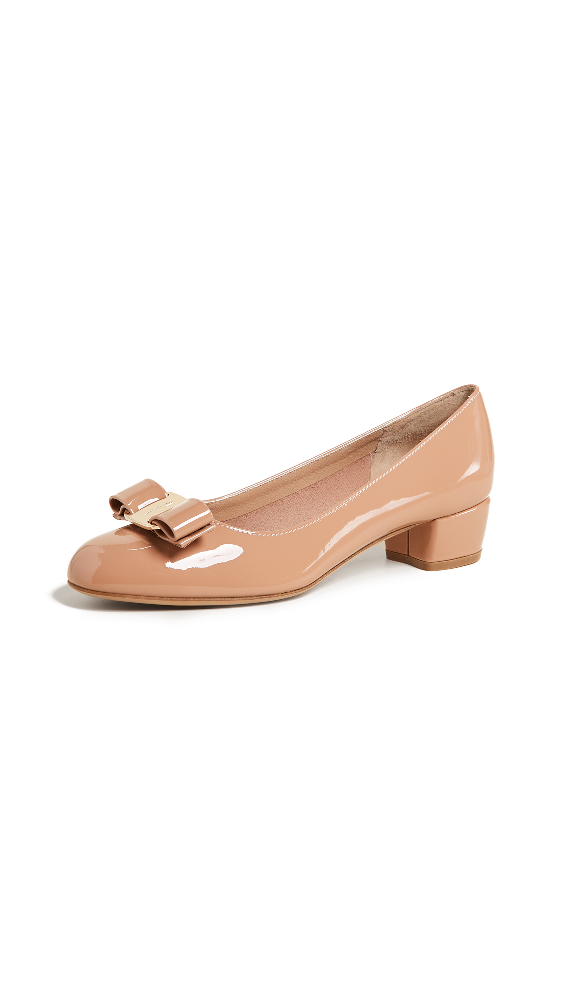 Salvatore Ferragamo Vara Low Heel Pumps - New Blush