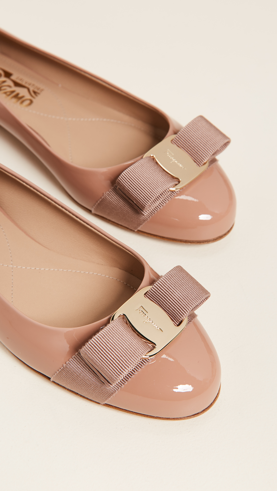 Varina Leather Flat, New Blush Patent