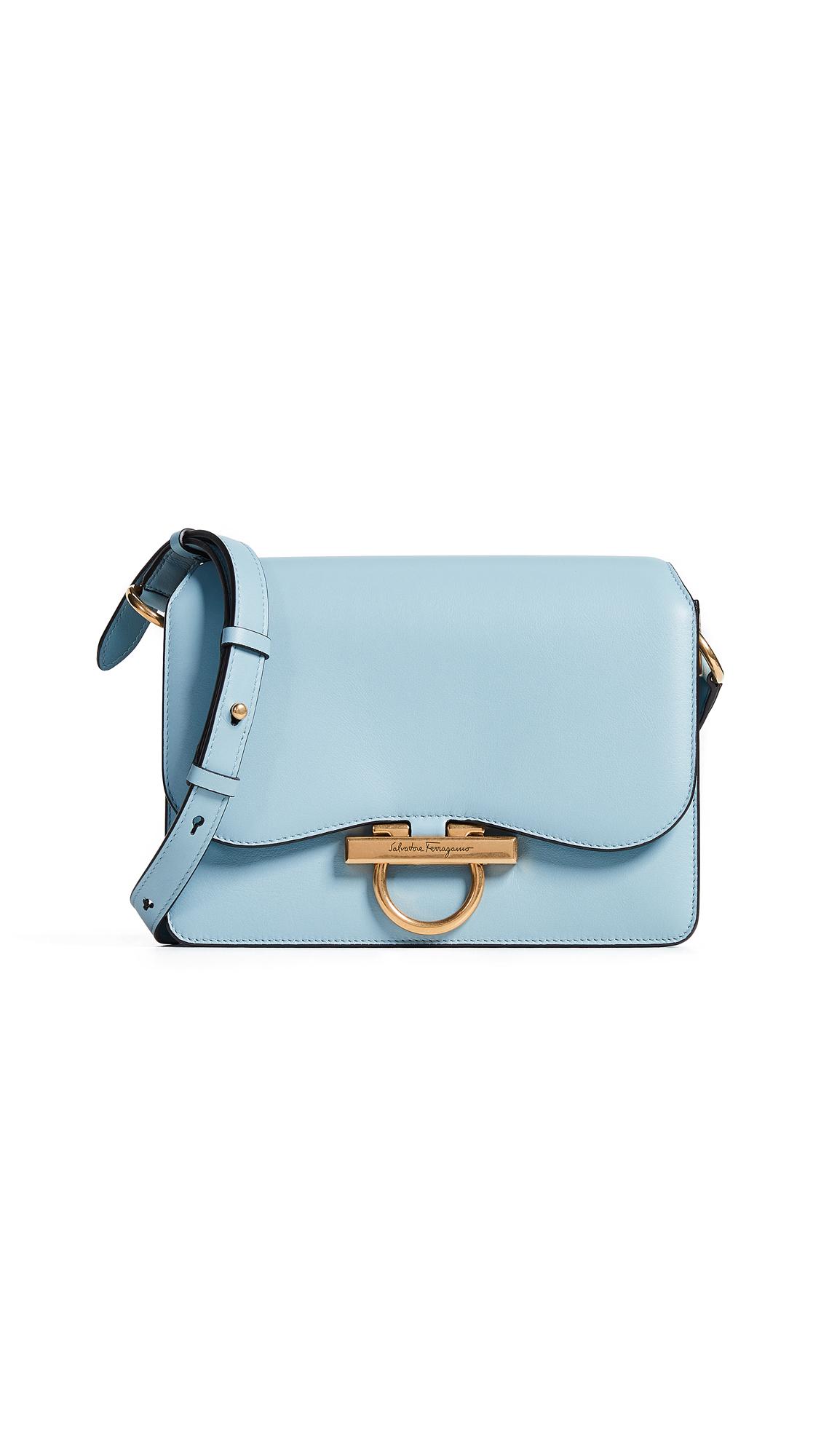 9ca25e53cac9 Salvatore Ferragamo Classic Flap Shoulder Bag In Blue Haze