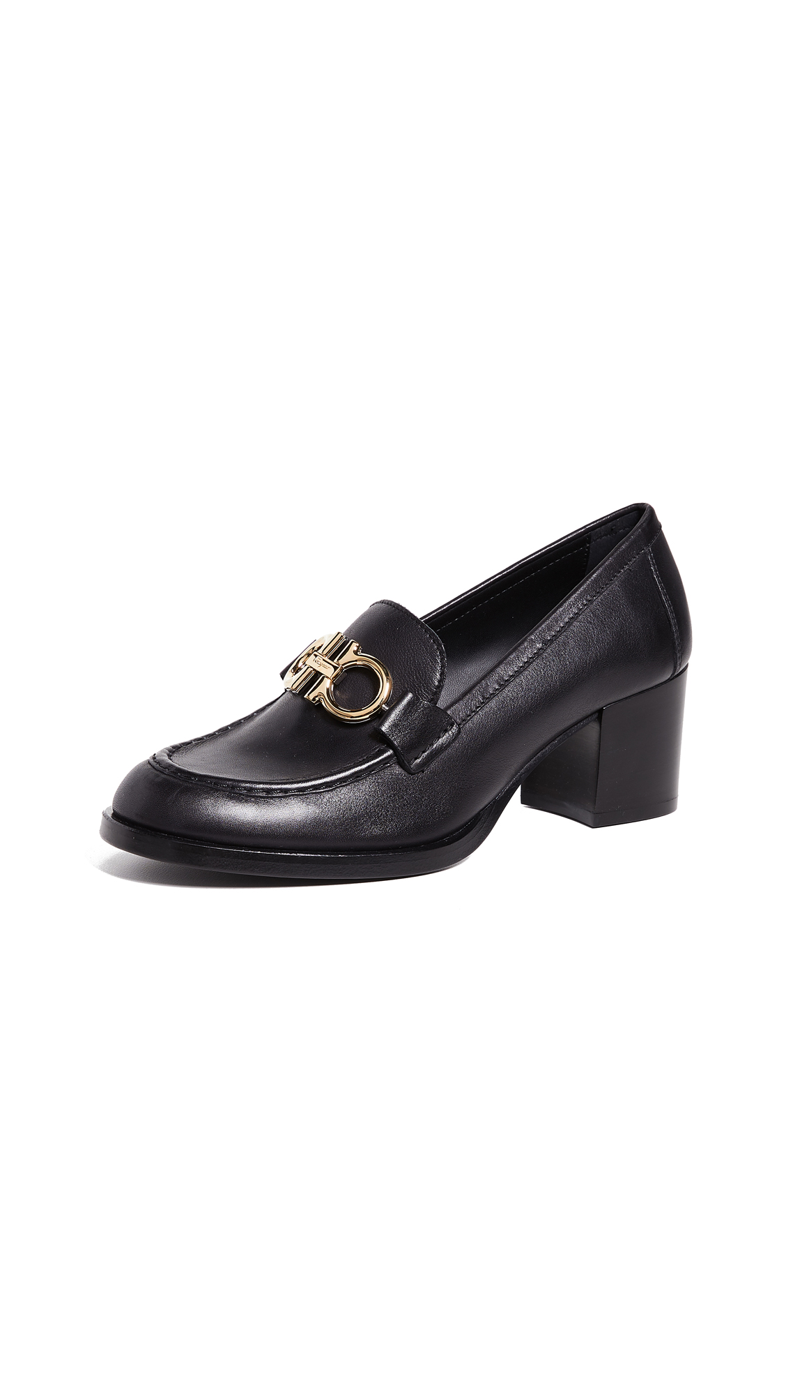 Salvatore Ferragamo Rolo 55mm Loafers - Nero