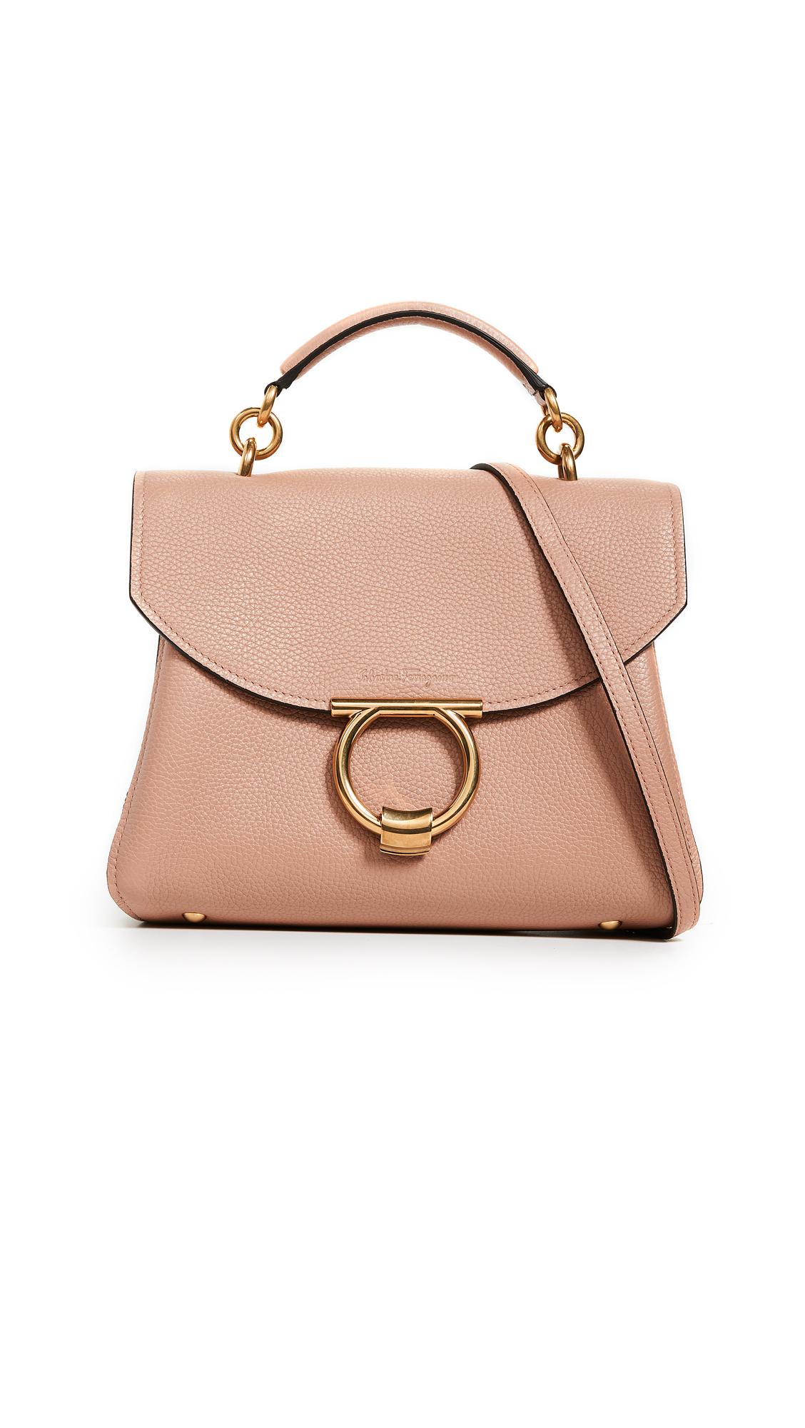 Salvatore Ferragamo Gancino Vela Soft Margot Small Bag - New Blush