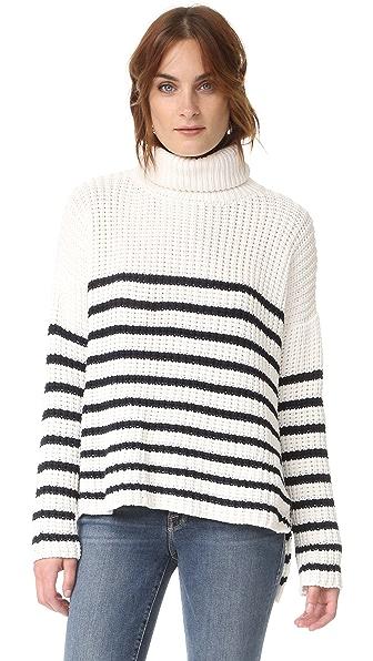 Faithfull The Brand Erika Knit Sweater - Stripe/Off White