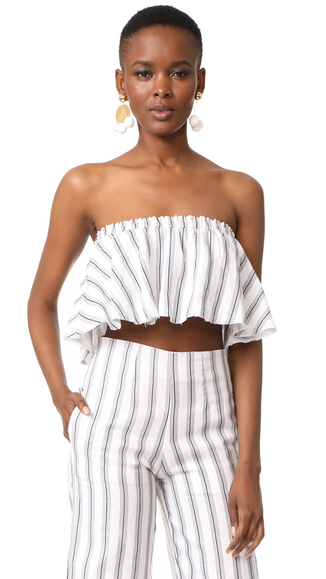 FAITHFULL THE BRAND Suns Out Top - Sandwash Stripe