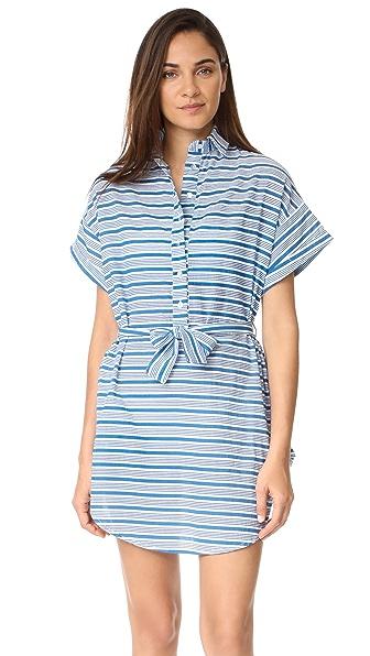 FAITHFULL THE BRAND Aaron Shirtdress In Puglia Stripe