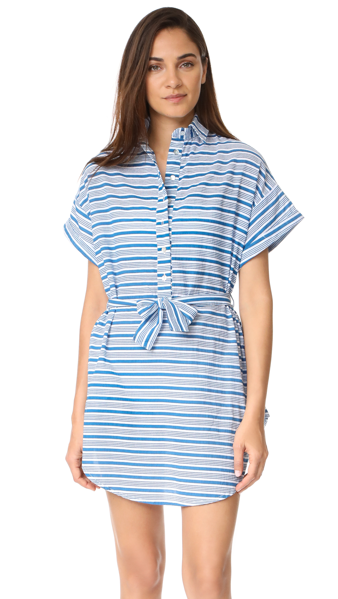 FAITHFULL THE BRAND Aaron Shirtdress - Puglia Stripe