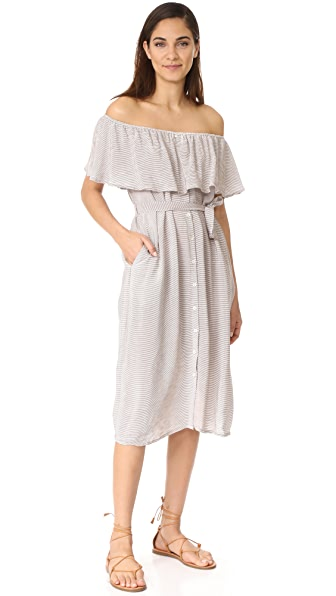 FAITHFULL THE BRAND Majorca Maxi Dress - Cascais Stripe Grey