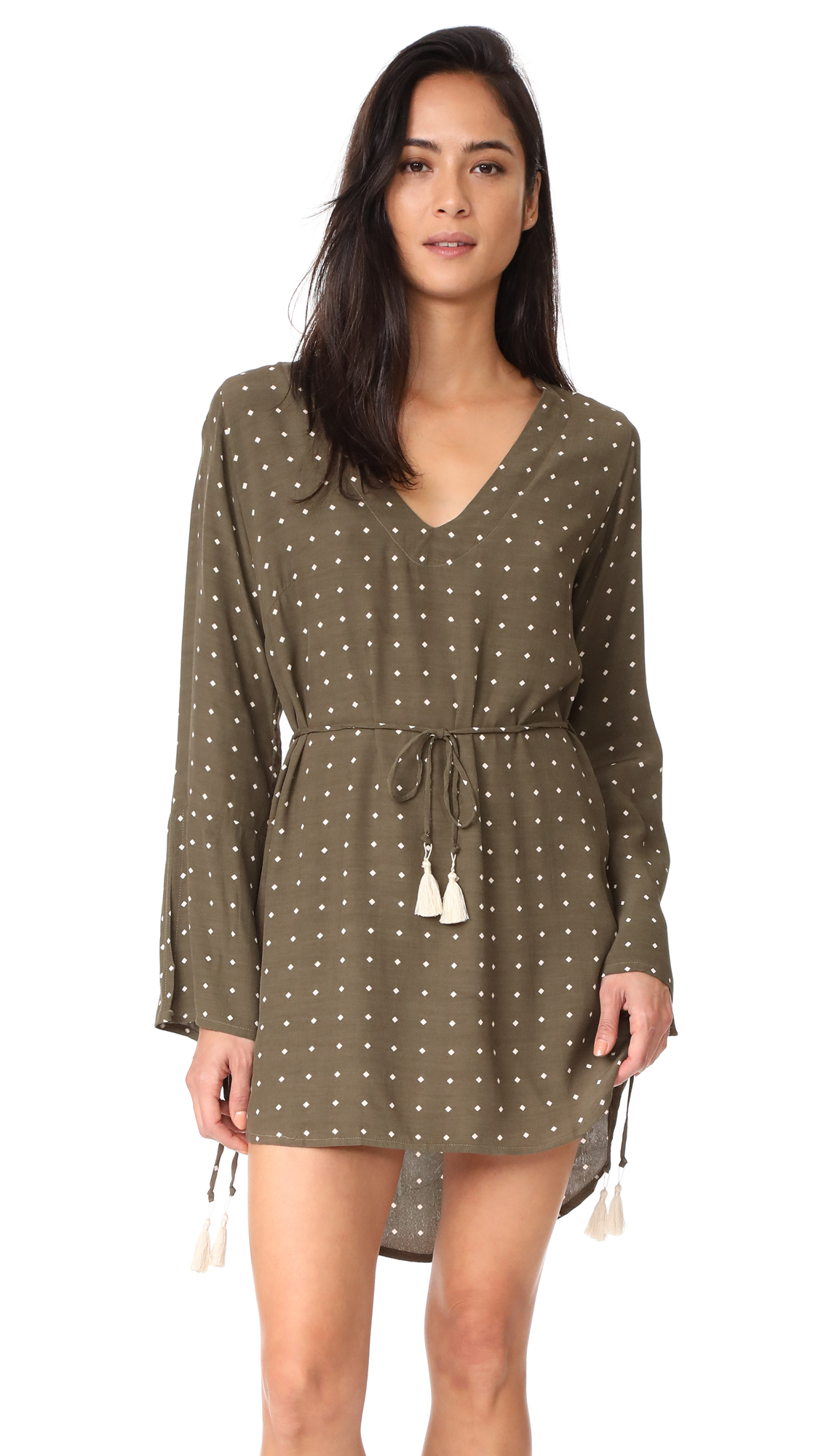 FAITHFULL THE BRAND Neroli Dress - Stefano Print Khaki