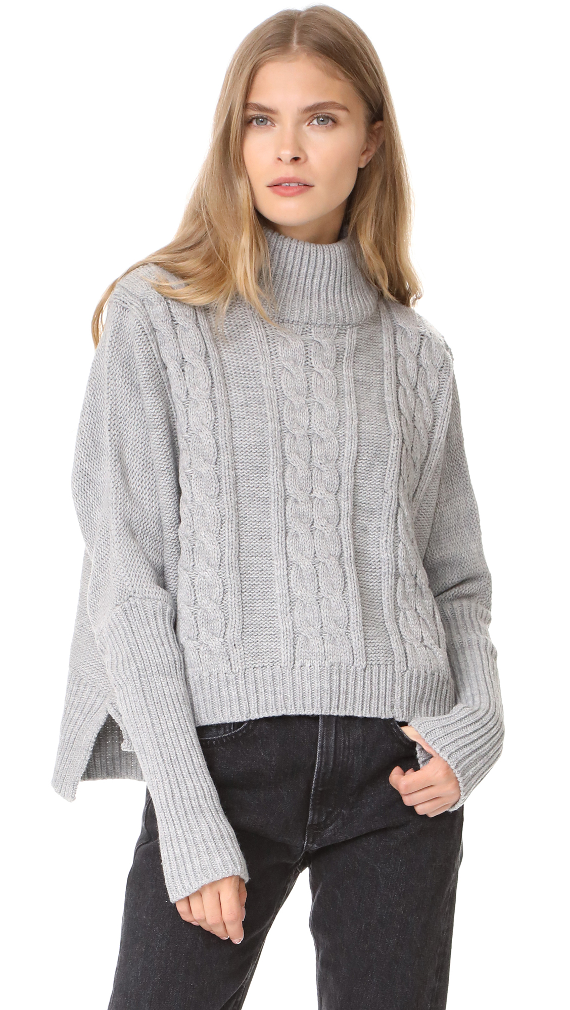 FAITHFULL THE BRAND Merida Knit Sweater - Grey