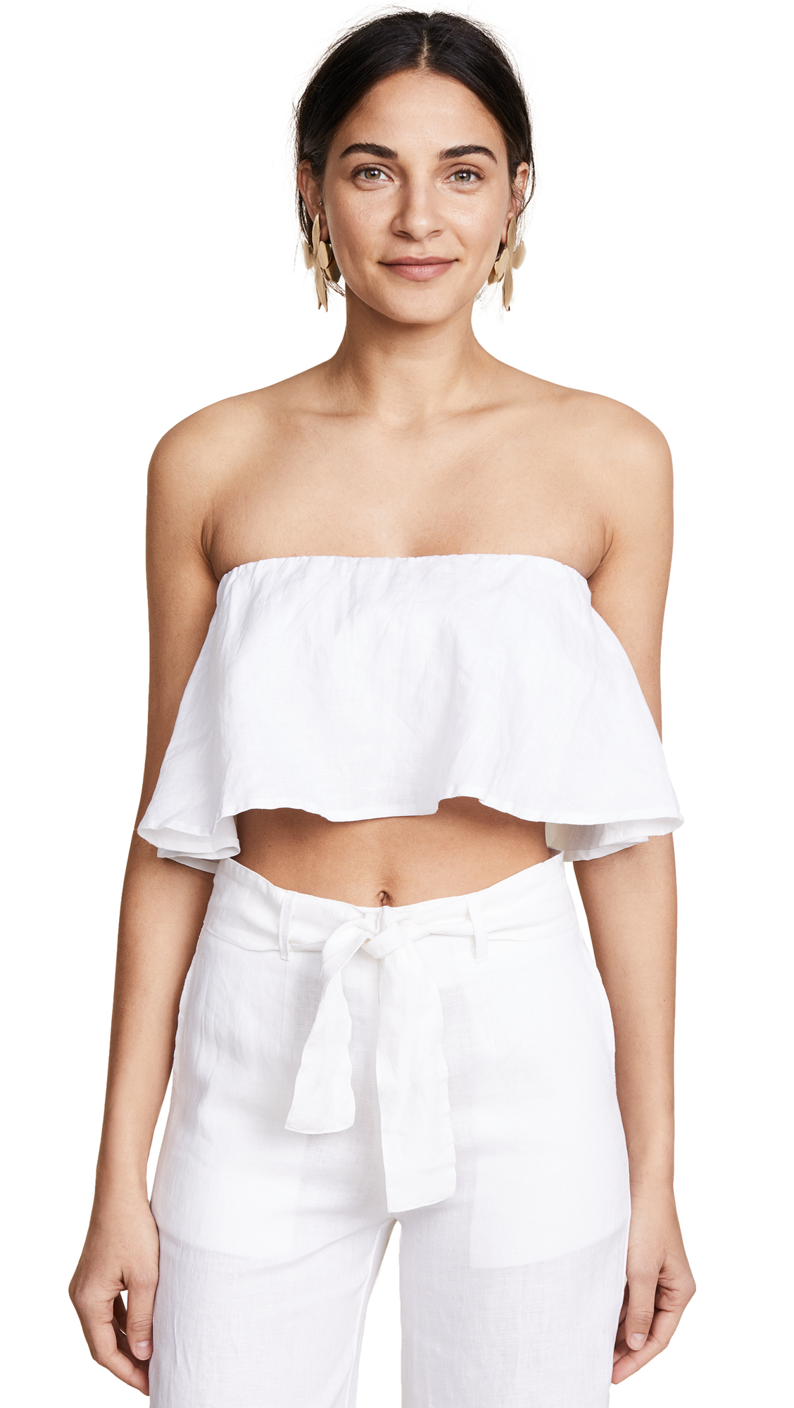 FAITHFULL THE BRAND Solana Top - White