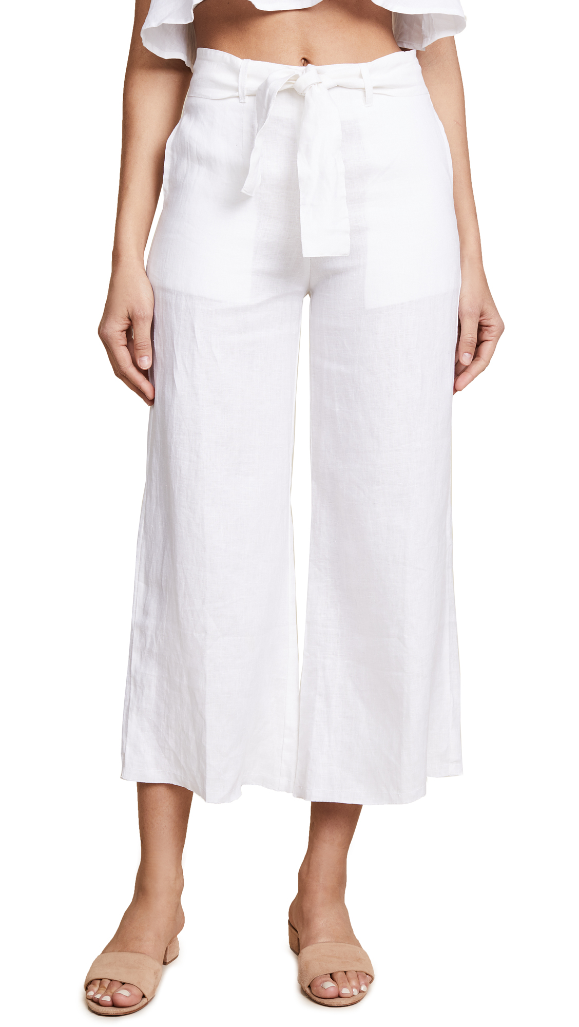 FAITHFULL THE BRAND Como Pants - White