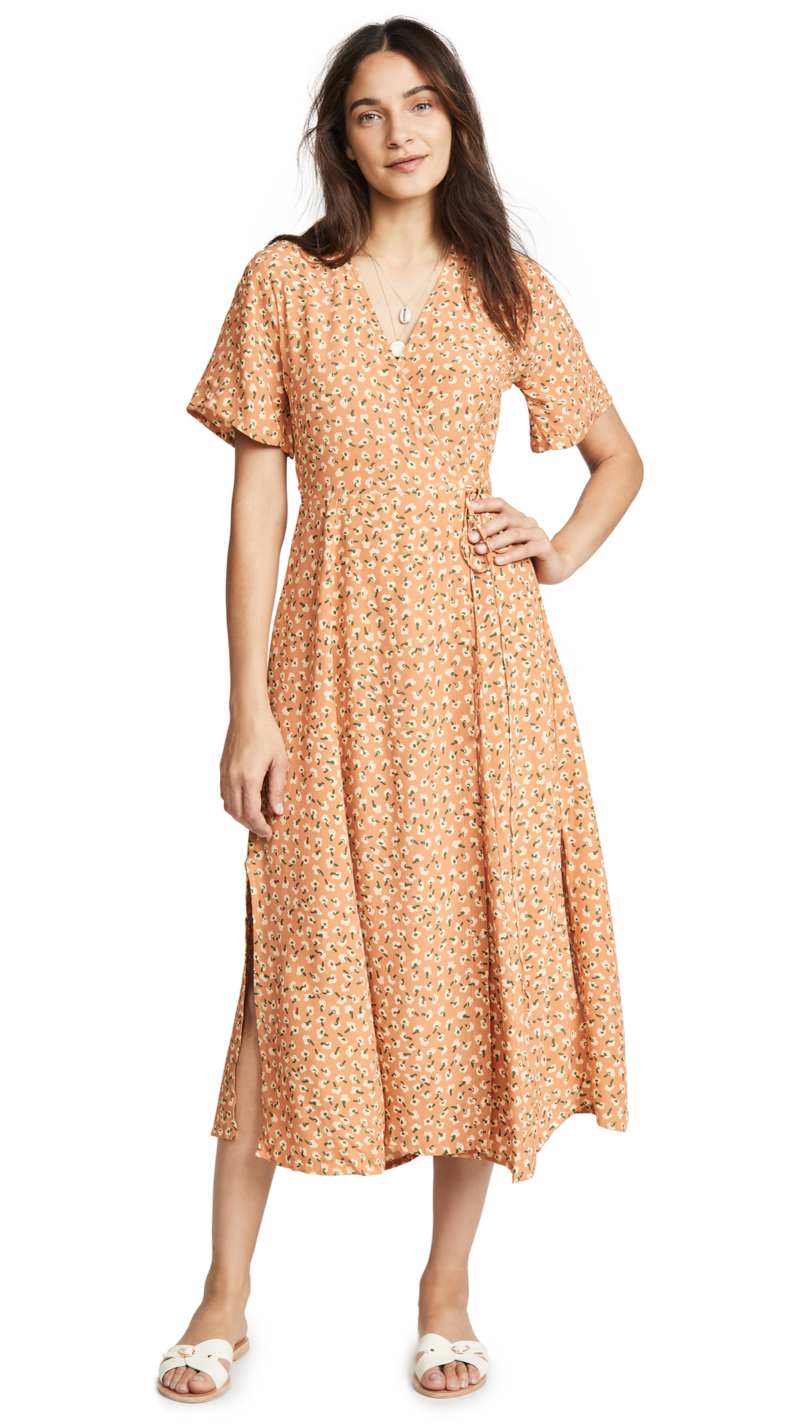 FAITHFULL THE BRAND Leila Wrap Dress In Vintage Blossom