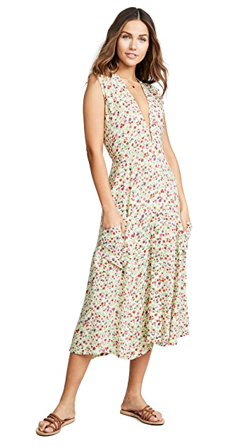 FAITHFULL THE BRAND Blohm Midi Dress