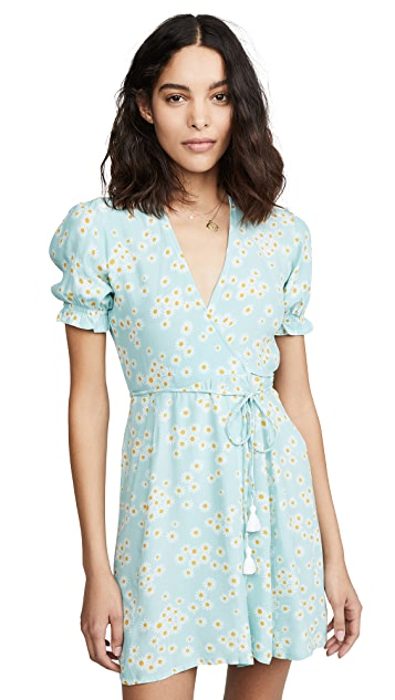 Photo of  FAITHFULL THE BRAND Mira Wrap Dress - shop FAITHFULL THE BRAND dresses online sales
