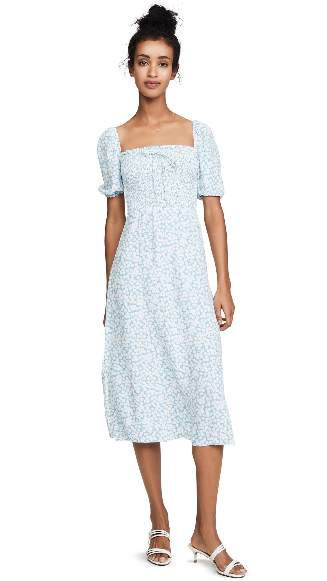 Buy FAITHFULL THE BRAND online - photo of FAITHFULL THE BRAND Majorelle Midi Dress