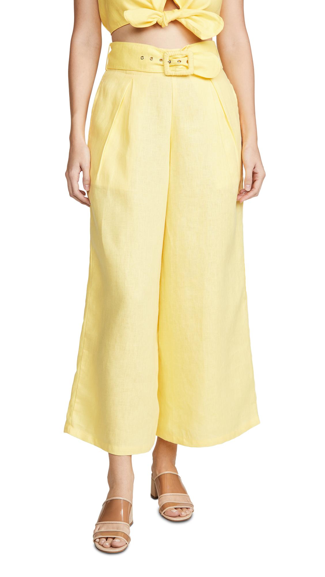 Buy FAITHFULL THE BRAND online - photo of FAITHFULL THE BRAND Lena Wide Leg Pants