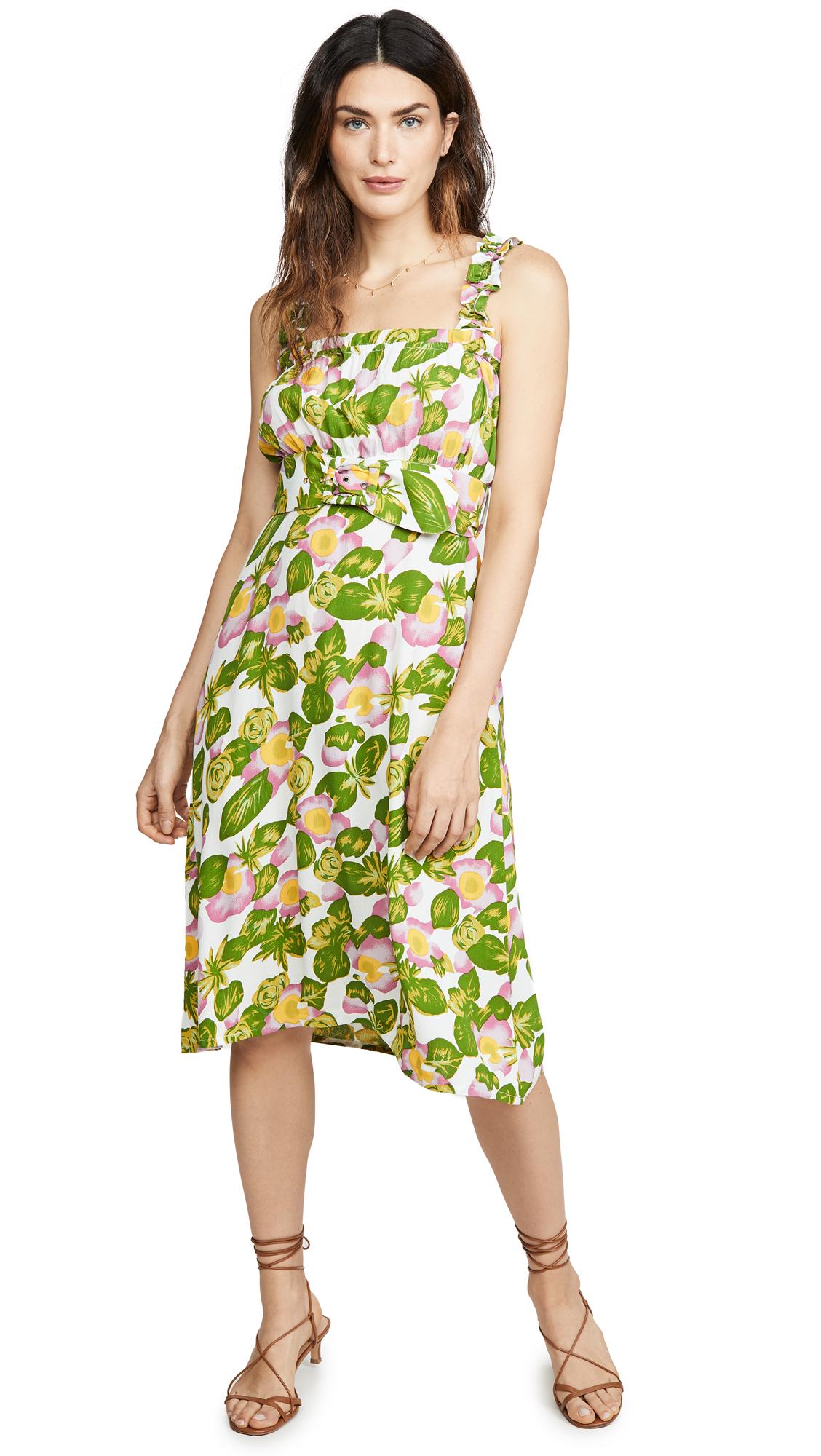 Buy FAITHFULL THE BRAND online - photo of FAITHFULL THE BRAND Mae Midi Dress