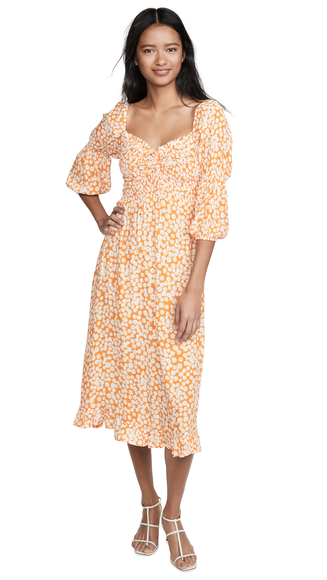 Buy FAITHFULL THE BRAND Nora Midi Dress online beautiful FAITHFULL THE BRAND Clothing, Dresses