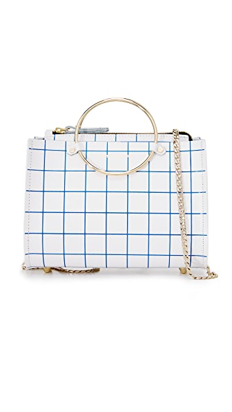 Future Glory Co. Margaux Mini Grid Bag In White/Blue