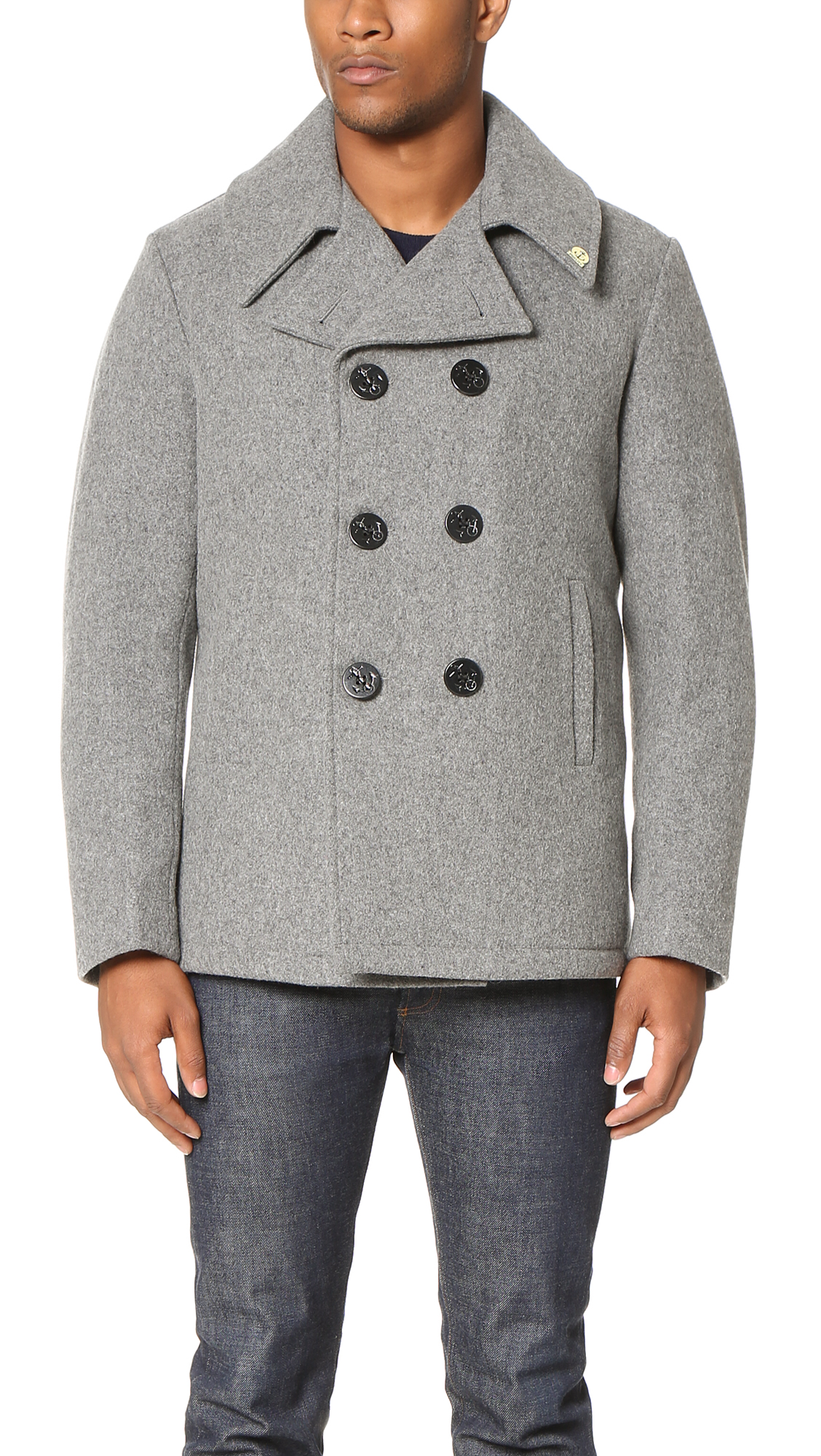 Gerald & Stewart by Fidelity Wool Quilt Lined Pea Coat | EAST DANE ... : quilted pea coat - Adamdwight.com