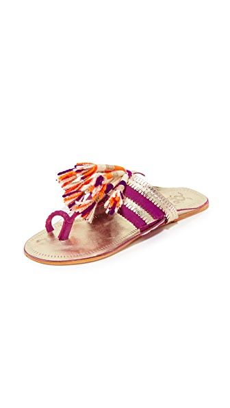 Figue Zola Sandals - Gold/Purple Multi