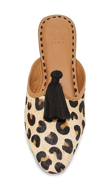 Figue Leopard Haircalf Audrey Slides