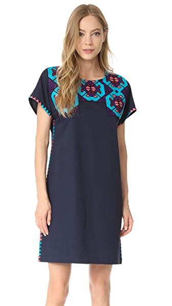 Figue Tia Dress In Midnight Navy