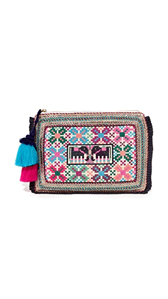 Figue Kerala Zip Pouch - Ivory/Multi