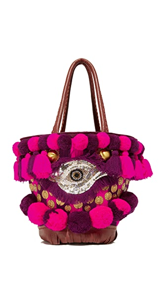 Figue Imani Samui Mini Tuk Tuk Shoulder Bag - Utopian Plum/Hot Pink